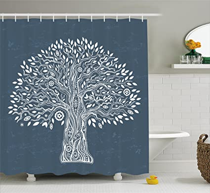 Tree Of Life Shower Curtain By Ambesonne Unique Ethnic Illustration Pure And Noble In