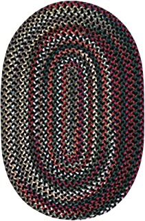 product image for Colonial Mills Aurora Reversible Braided Accent Rug (2' x 3') Black Satin Red, Blue, Green