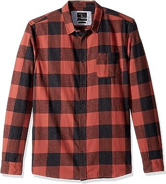 Quiksilver Motherfly - Camisa de franela con botones para hombre - Rojo - Small: Amazon.es: Ropa y accesorios