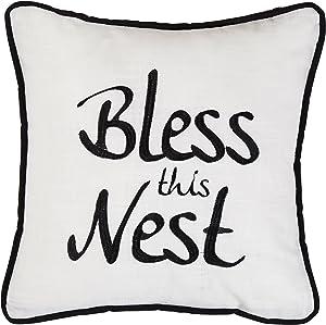 HiEnd Accents Bless This Nest Decorative Pillow, Multi