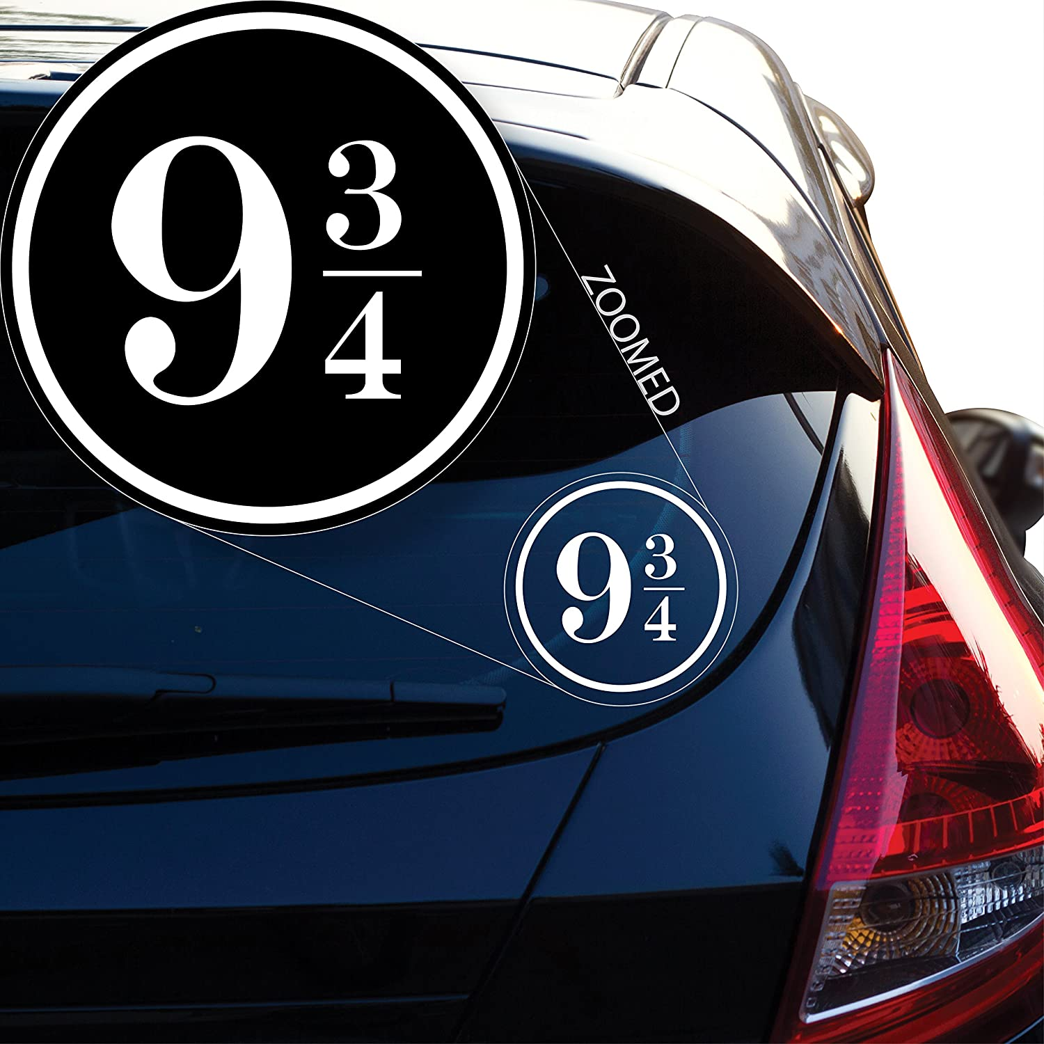 Harry Potter Inspired 9 3//4 Vinyl Decal Sticker # 828 4 x 4, Black Yoonek Graphics