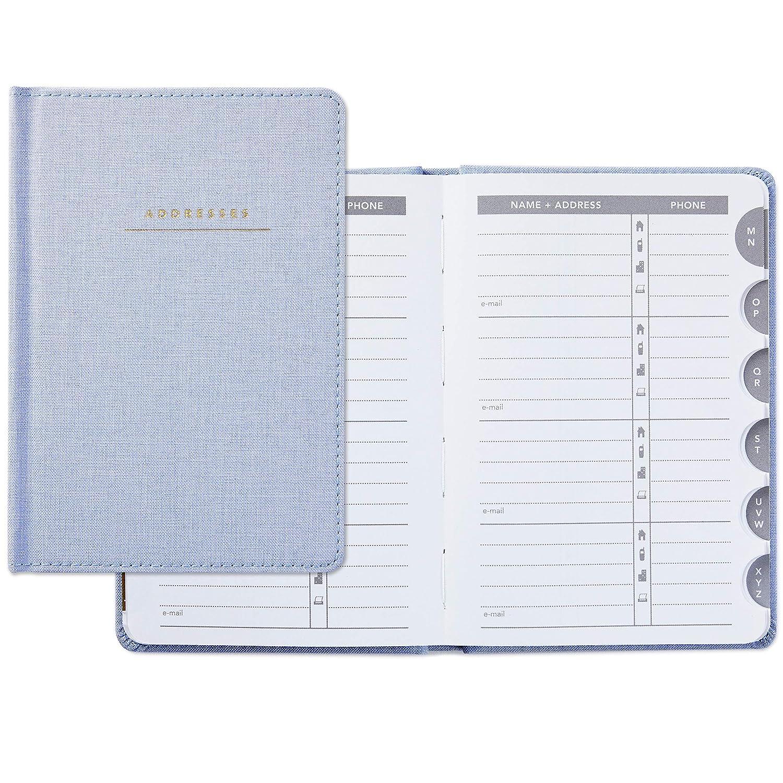 Hallmark Hardcover Address Book (Blue Chambray)