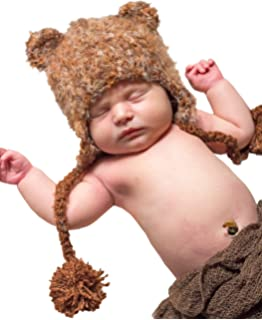 7f65c7eb9a4 Huggalugs Baby and Toddler Moose Bear Buck Doe Camping Outdoors Beanie Hats