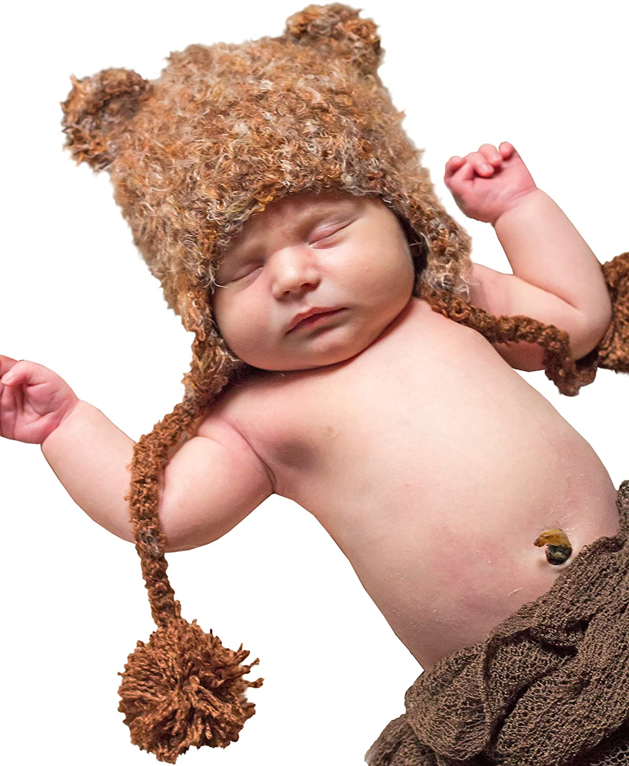 Huggalugs Baby and Toddler Moose Bear Camping Outdoors Beanie Hats, Pants Legwarmers 830L