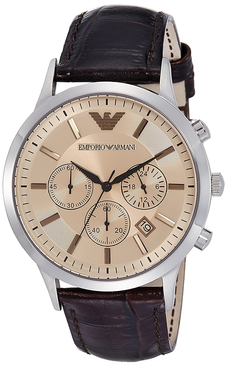 various design best choice offer discounts Emporio Armani Analog Brown Dial Men's Watch - AR2433