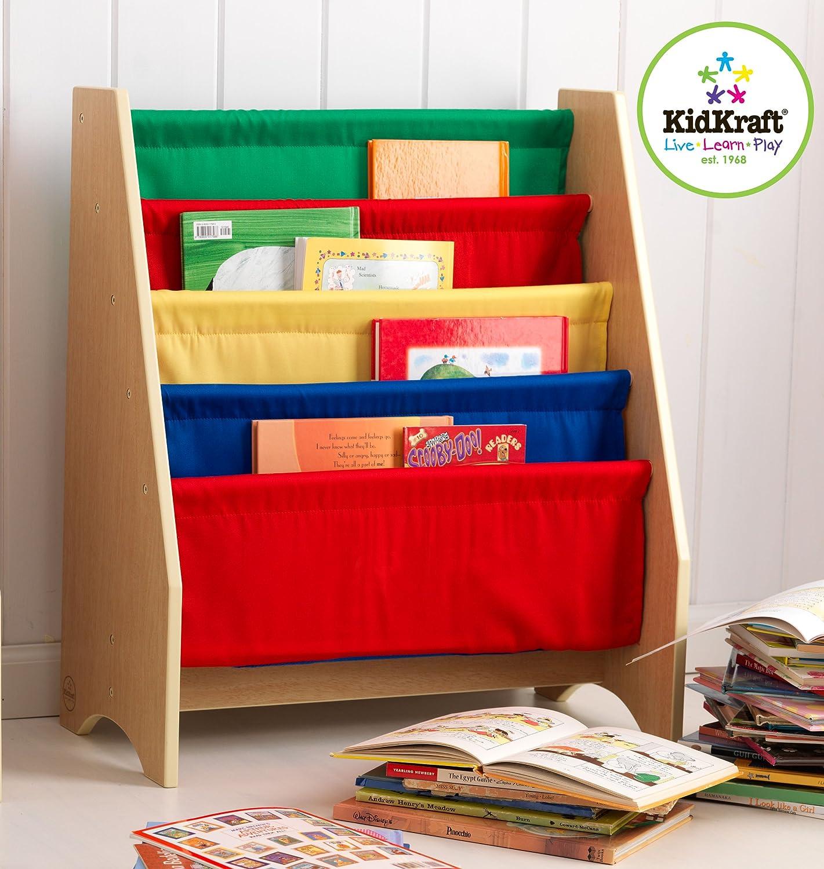 kidkraft sling bookshelf primary toys games