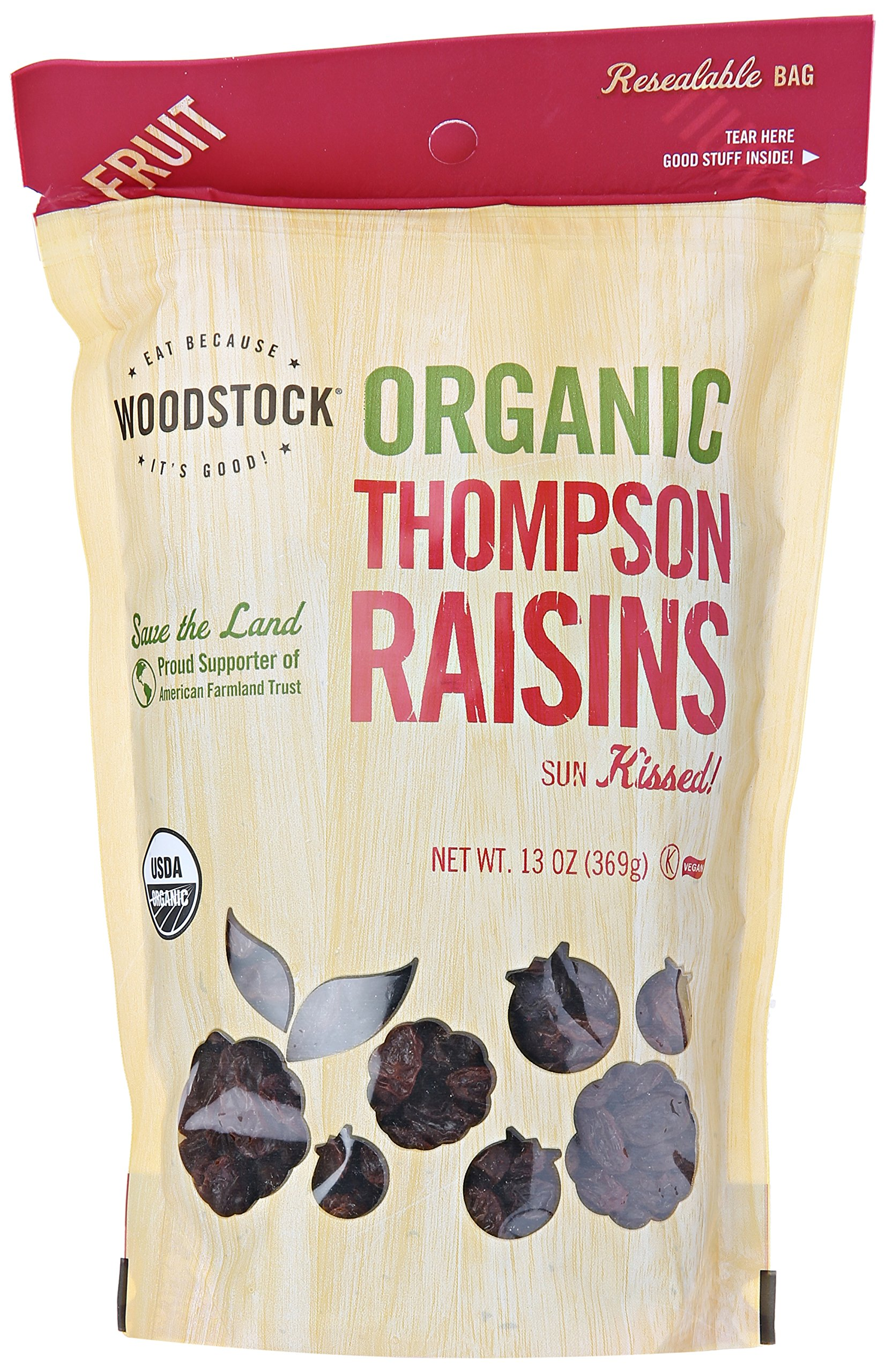 Woodstock Organic Thompson Raisins, 13 Oz