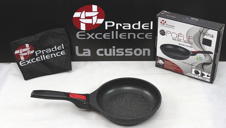 Pradel Excellence - Gamme luxe Volna- Poêle 20 cm revêtement pierre -  manche amovible - Garanti sans PFOA  Amazon.fr  Cuisine   Maison 1447eb86bcc7
