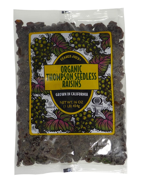 Trader Joes Organic Thompson Seedless Raisins - 1 lb