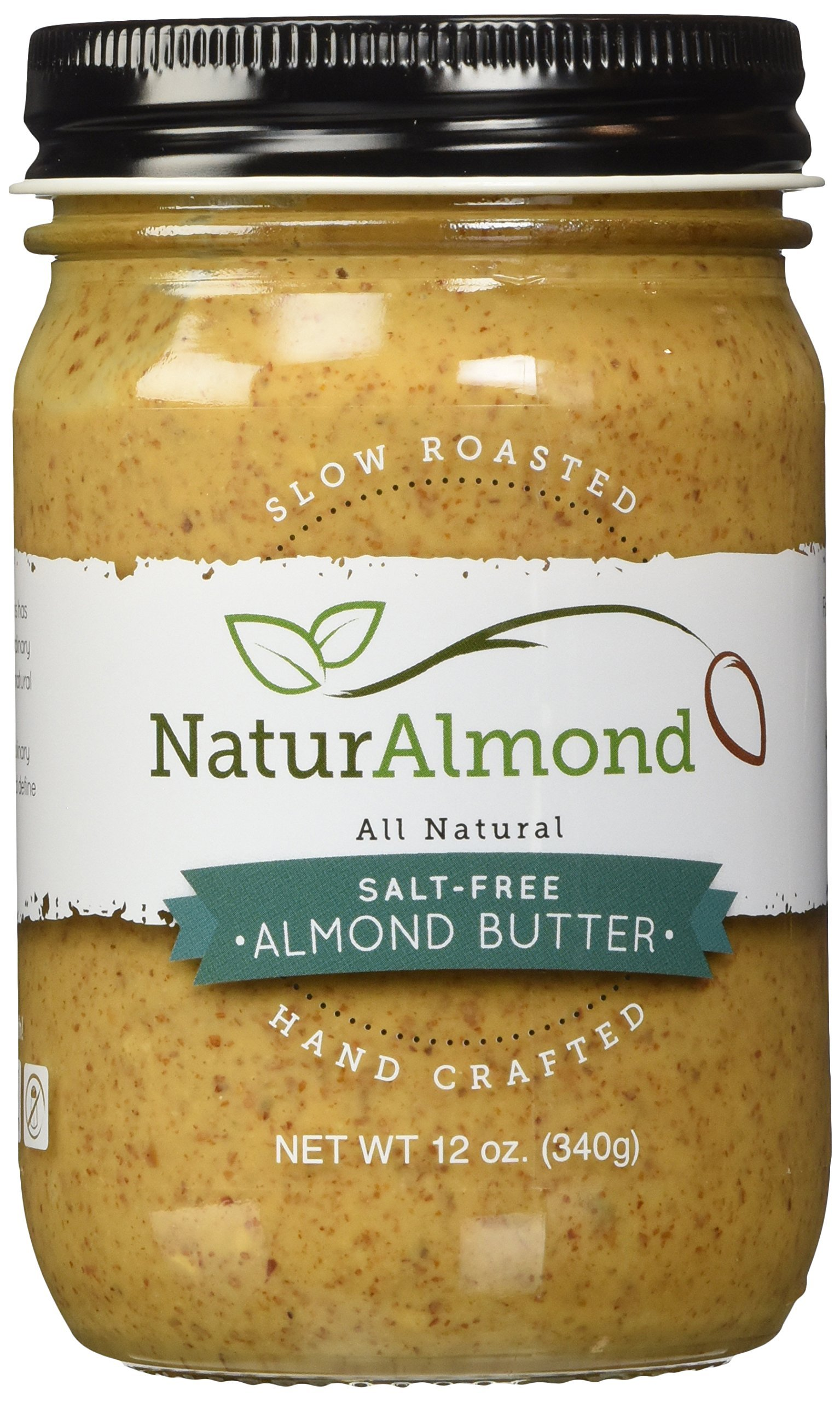 NaturAlmond Almond Butter, Salt Free, 12 oz