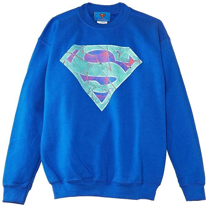 DC Comics Superman Glass Logo, Sudadera, Niños: Amazon.es: Ropa y accesorios