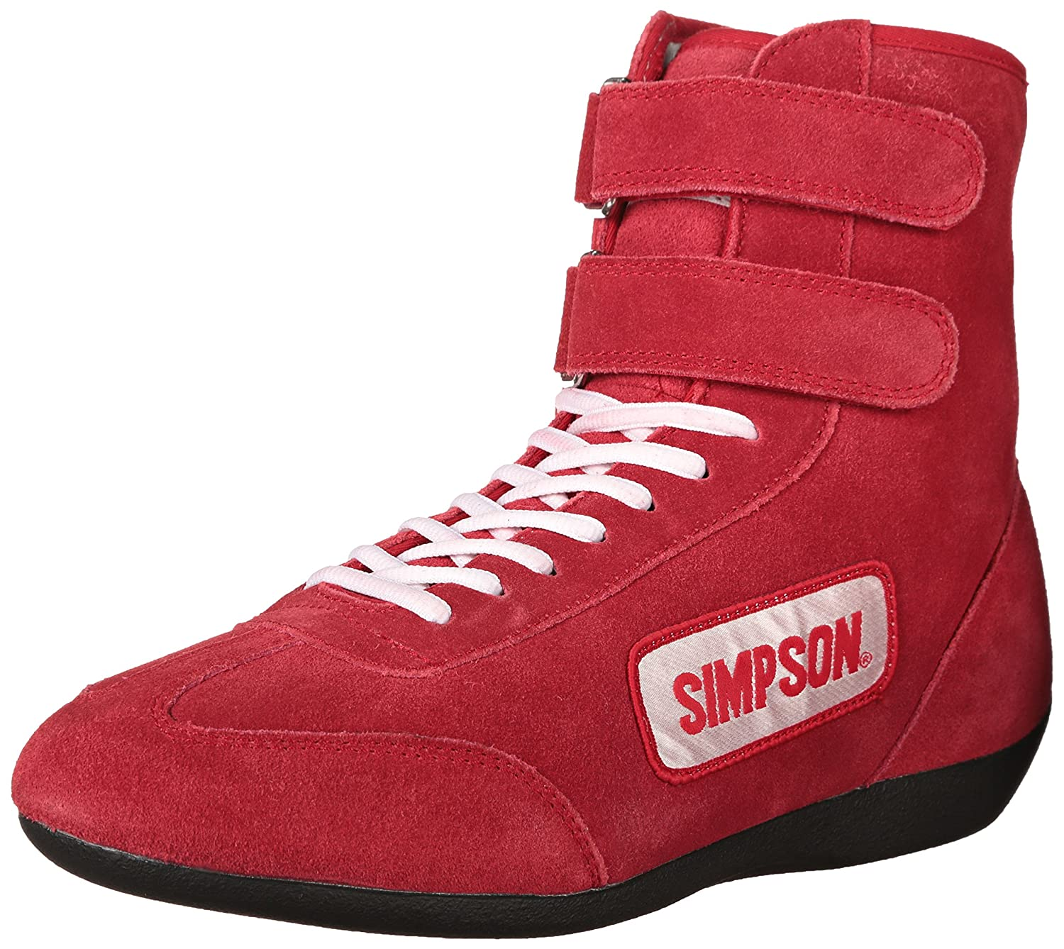 Amazon Simpson R Red High Top Leather Driving Shoe Automotive