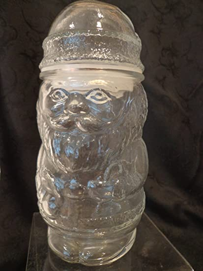 glass santa claus shaped candy jar santa candy jar santa jar christmas candy