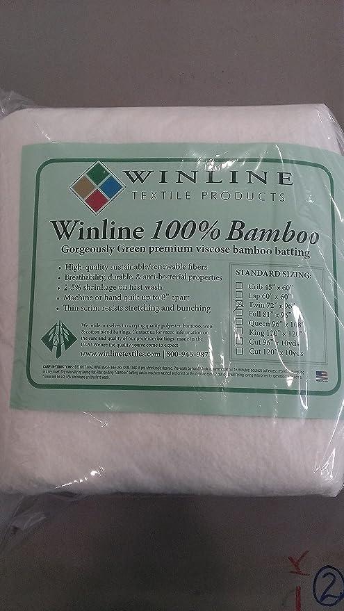 Winline Textiles 100/% Bamboo Batting King 120X120