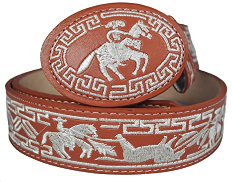 Western Belts Men s Machine Embroidery Belt Style 13 at Amazon Men s ... aa154cea75b