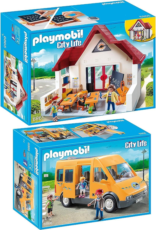 Playmobil 6865 + 6866 City Life - Set de 2 juegos: Escuela y ...