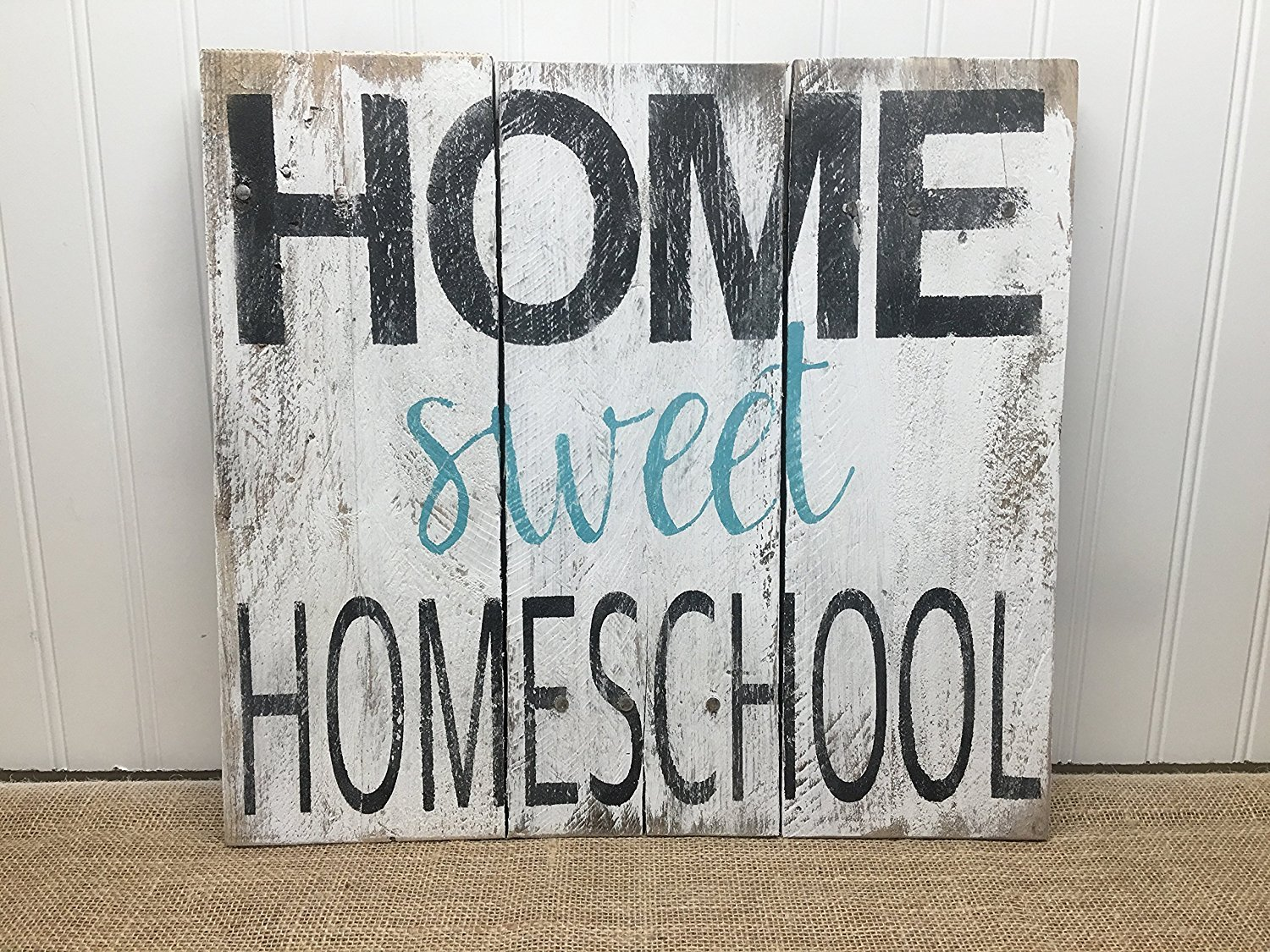 PotteLove Homeschool Quote Reclaimed Wood Pallet Sign Home Decor 16x13