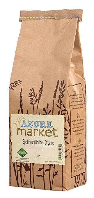 Azure Market Organics Spelt Unifine Flour, Non-GMO: Amazon ...