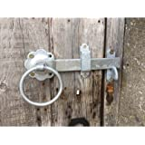 """180mm 7"""" No.1136 Plain Ring Handled Gate Latches Galv'd"""