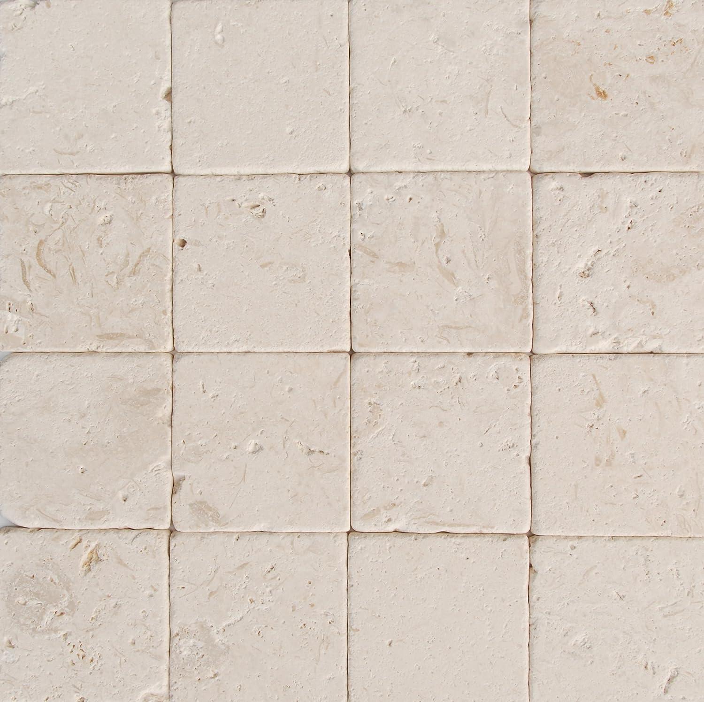Tremendous Myra Beige Limestone 4X4 Tumbled Tiles Sample Amazon Com Download Free Architecture Designs Jebrpmadebymaigaardcom