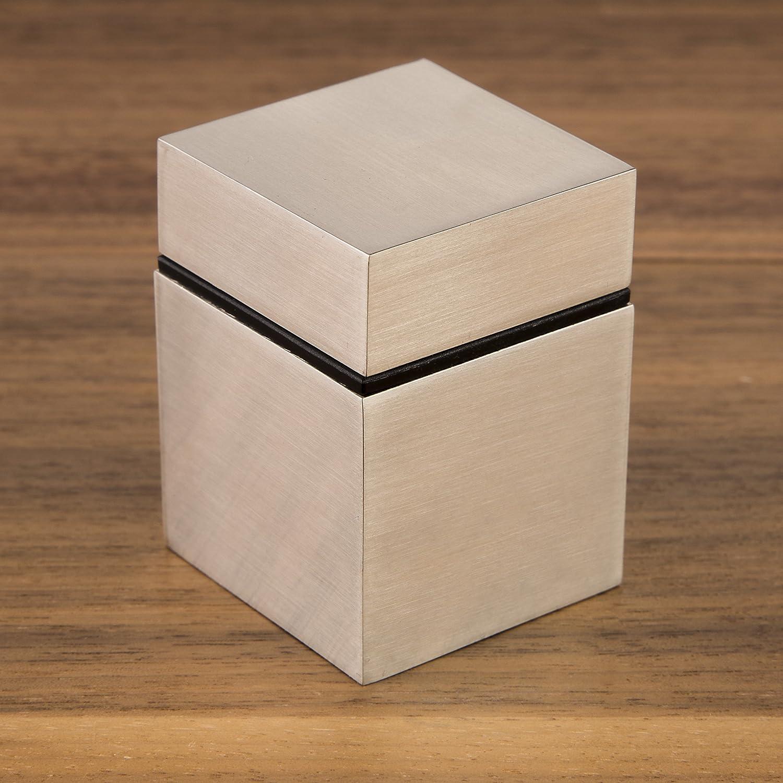 2 St/ück SO-TECH/® Regaltr/äger CUBE II Chrom poliert Glasbodenhalter Bodentr/äger