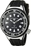 Swiss Legend Women's 11044D-01 Neptune Black Dial Watch with Silicone Band