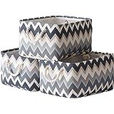 TcaFmac Baskets Storage Foldable Storage Bins [3-Pack] Collapsible Storage Basket Fabric Baskets Handles for Organizing…