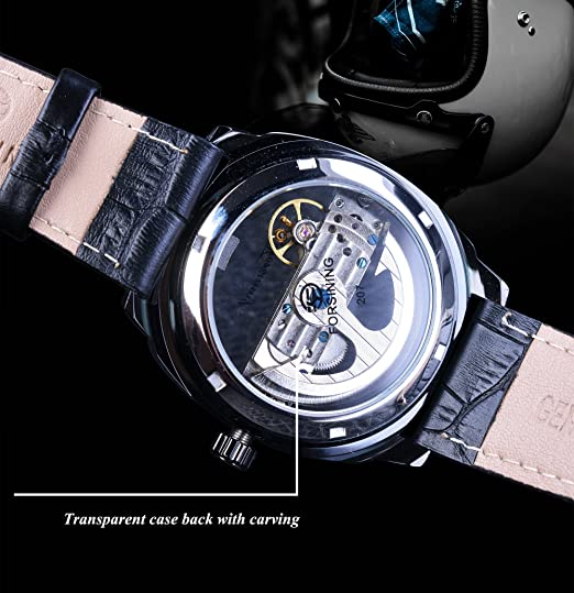 Amazon.com: Forsining City Fashion Steampunk Official Limited Skeleton Automatic Wristwatch: Watches