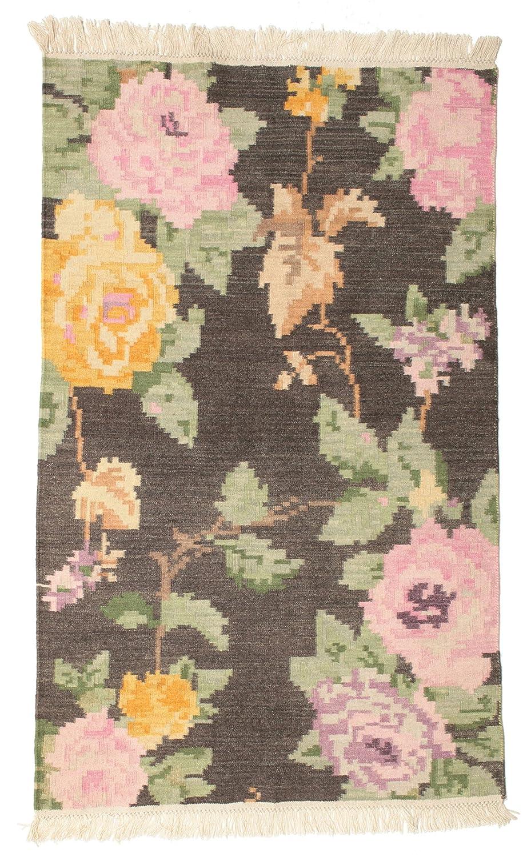 CarpetVista Kelim Karabach Amira - Braun Teppich 100x160 Moderner Teppich