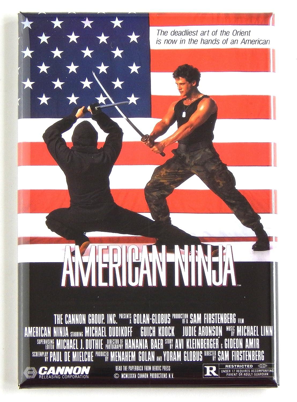 Amazon.com: American Ninja Movie Poster Fridge Magnet (2.5 x ...