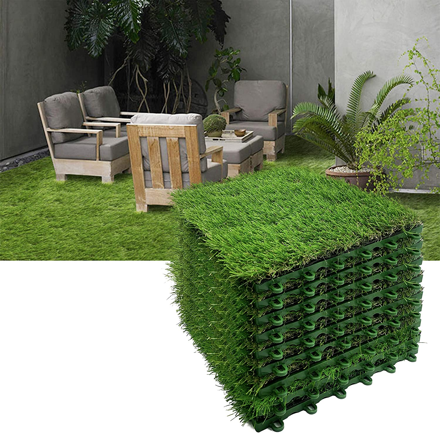 Reliancer 9pcs Artificial Grass Turf Interlocking Grass Tile Lawn Rug For Dogs Puppy Potty Pads Pet Synthetic Square Grass Carpet Golf Mat Outdoor Landscaping Indoor Flooring Decor 12 X12 Amazon Co Uk Kitchen Home