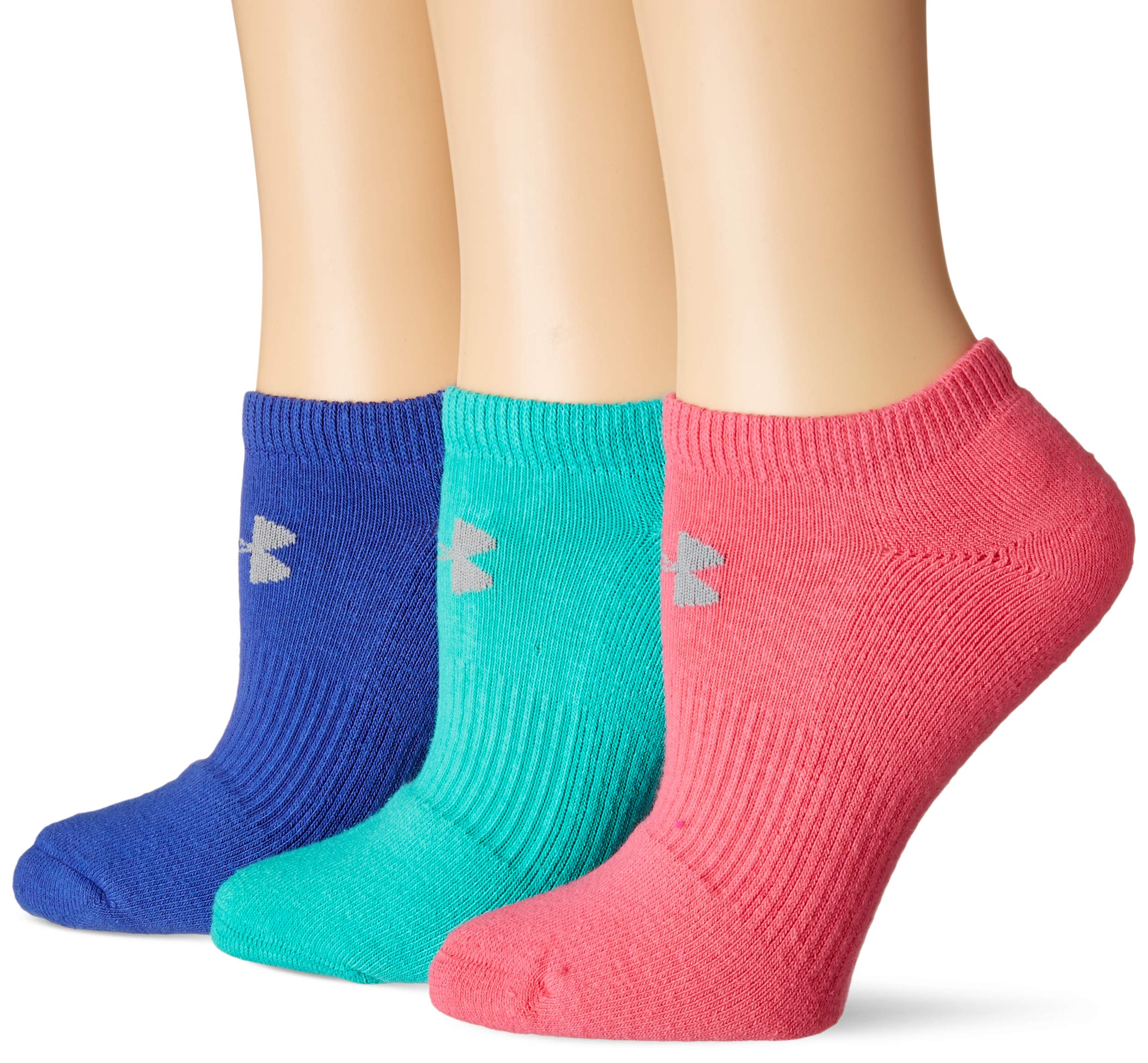 Under Armour Charged Cotton 2.0 No Show Socks, 6 Pairs, Color Assorted, Medium by Under Armour