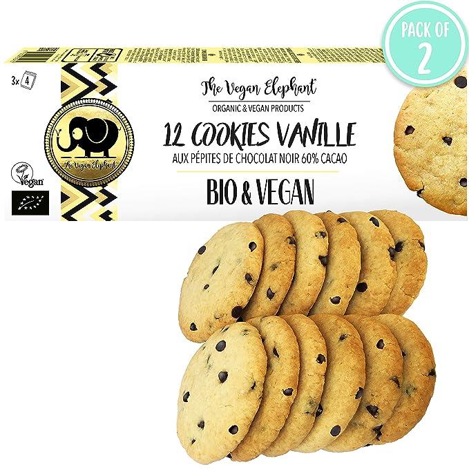 12 Galletas Orgánicas y Veganas Vainilla con Chips de Chocolate, 300G (PACK OF 2