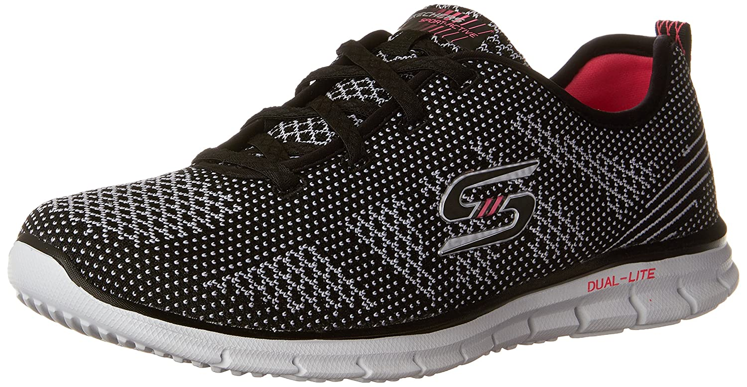 Skechers Glider-Forever Young, Zapatillas para Mujer 36 EU|Negro (Bkw)
