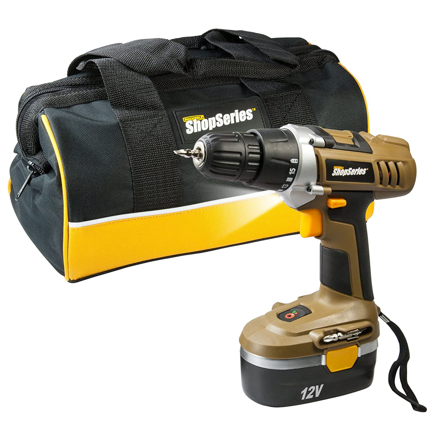 Positec Cordless Drill Driver with Battery & Charger, 12V ROCKWELL/POSITEC USA RC2122K