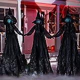 JOYIN Paquete de 3 estacas de jardín de bruja de 48 pulgadas para Halloween, con sonido espeluznante (activación de sonido) p