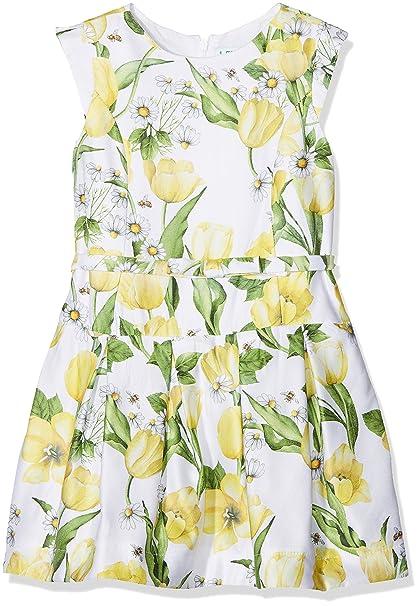 Mayoral 3934, Vestido para Niñas, Amarillo, 3 años (Tamaño del Fabricante: