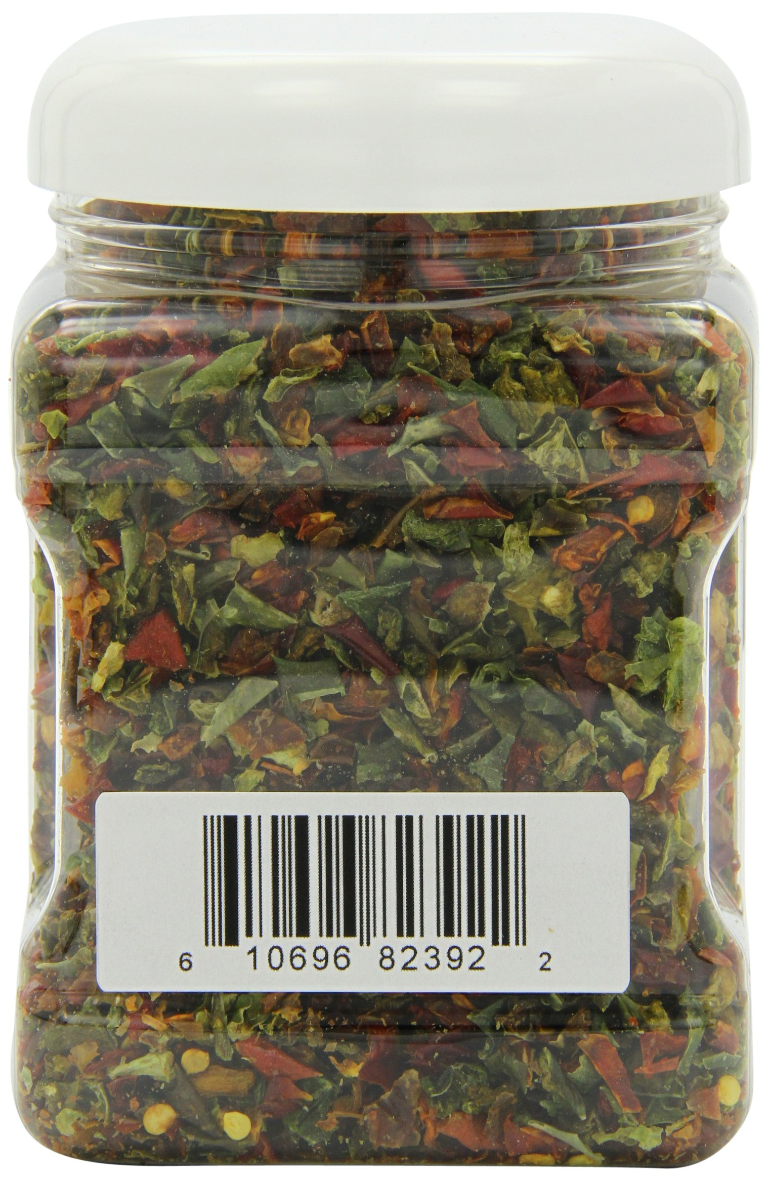 :Mother Earth Products Dried Mixed Bell Peppers, Red And Green, Quart Jar, Net Wt 9oZ (225g) by Mother Earth Products (Image #2)