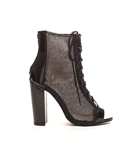 c5100600a Amazon.com | Soho Shoes Women's Lace up Mesh Peep Toe Booties Ankle Boots |  Ankle & Bootie