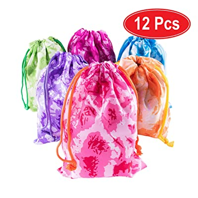 Super Z Outlet Tie-Dye Camouflage Drawstring Bags Party Favors, Arts & Crafts Activity (Assorted 12 Pack): Toys & Games [5Bkhe1203199]
