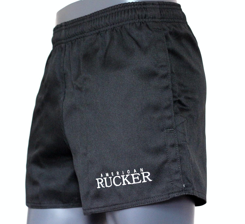 ブラックラグビーショーツ – American Rucker – 2つポケット – メンズ – レディース B01LW1FHIZ  46