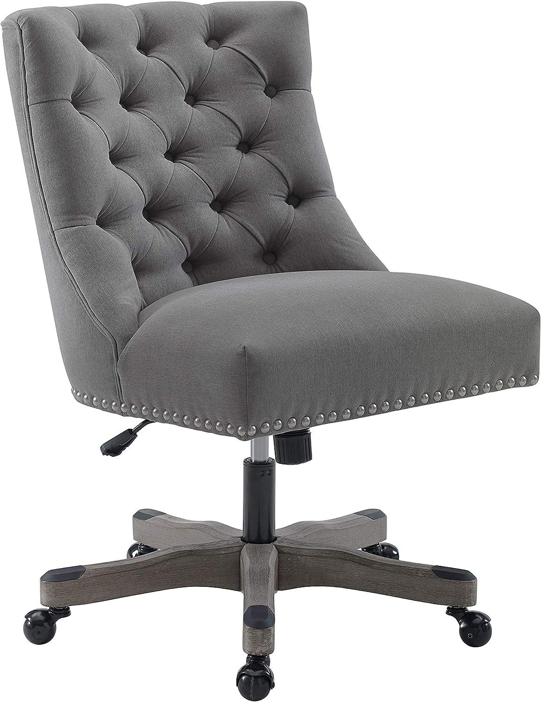 Linon Home Décor Honor Light Gray Office Chair, Grey
