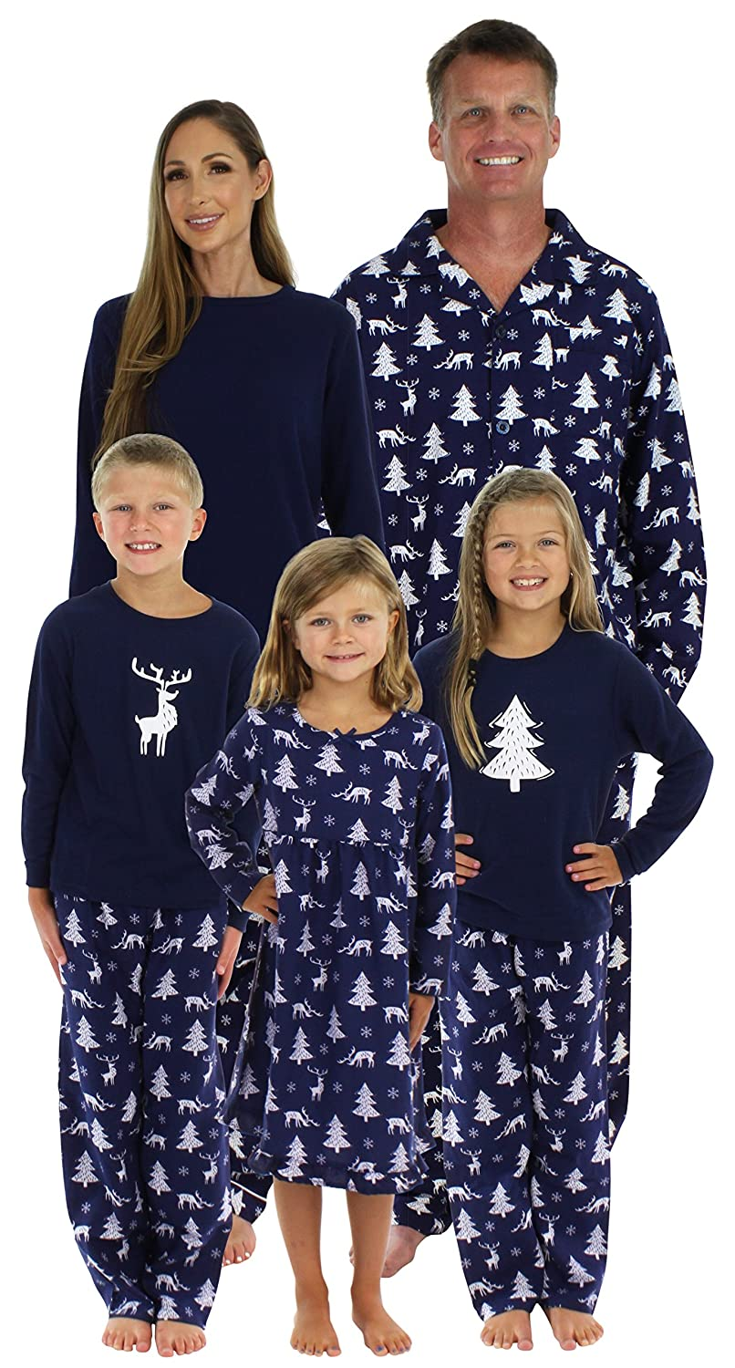 bcb5d7916b SleepytimePjs Family Matching Winter Deer Pajamas PJs Sets for The Family