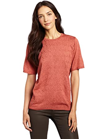 a2c9b3e52a1b Alfred Dunner Women s Solid Stitch Sweater at Amazon Women s ...