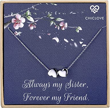 925 Sterling Silver sister Necklace Clothing So Chic Jewels