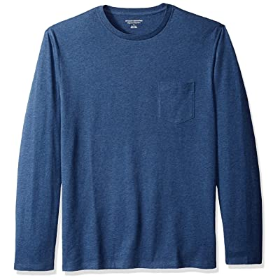 Essentials Men's Regular-Fit Long-Sleeve Pocket T-Shirt: Clothing