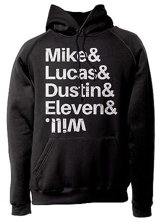 LaMAGLIERIA Sudadera Unisex Stranger Things - Mike & Lucas & Dustin & Eleven & Will - Sudadera con Capucha: Amazon.es: Ropa y accesorios
