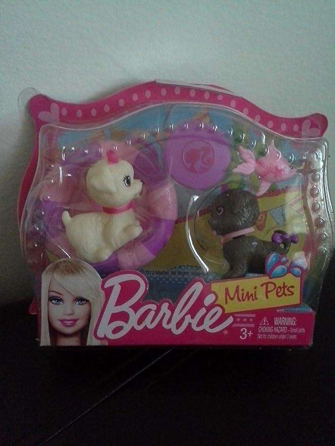 Amazon.es: Mattel - Barbie mini pets - perritos con frisbee y flotador: Juguetes y juegos