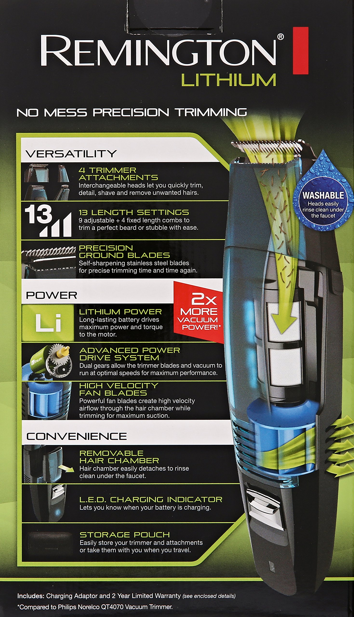 Remington VPG6530 Lithium Power Series 4 In 1 Vacuum Trimmer, Blue by Remington (Image #8)