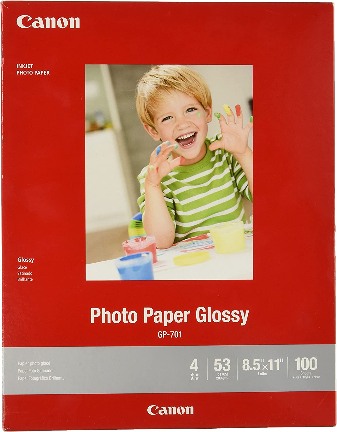 "CanonInk Glossy Photo Paper 8.5"" x 11"" 100 Sheets (1433C004),Value not found"